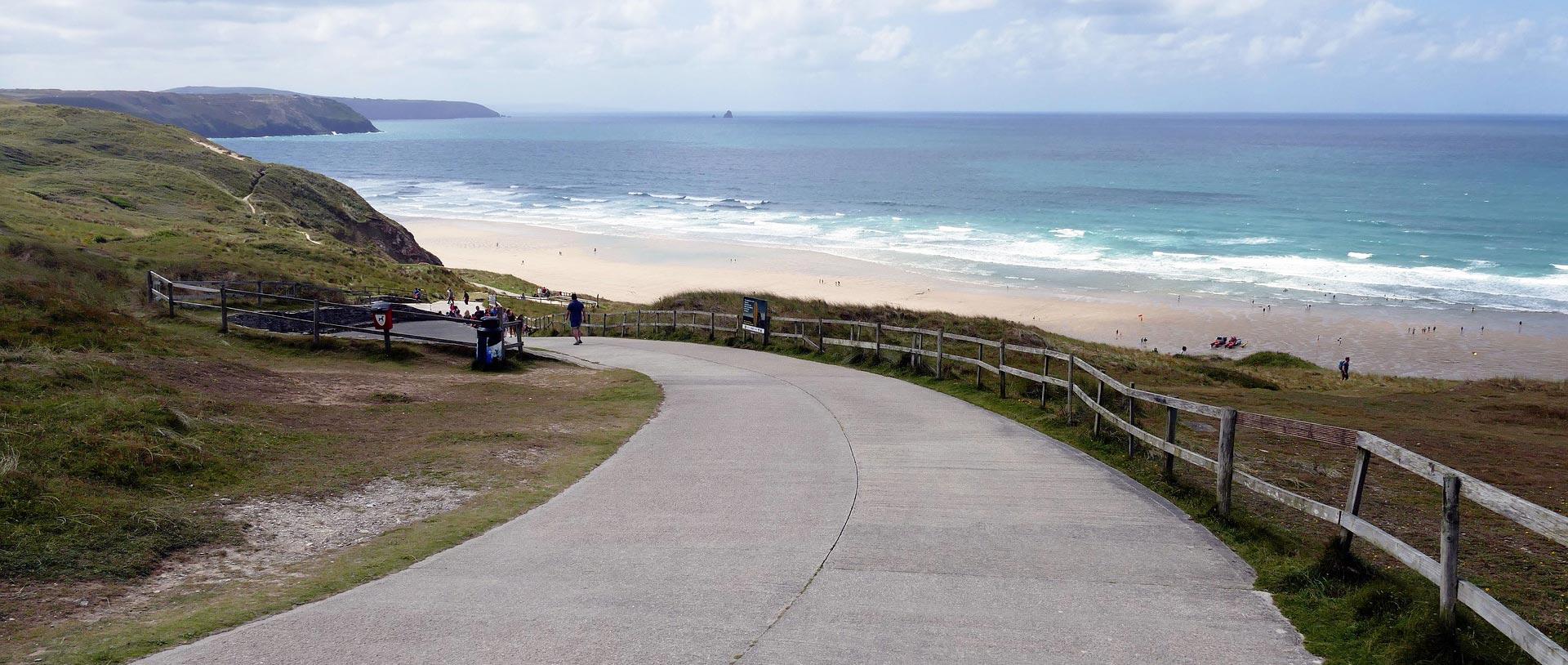 Coast Road to Beach